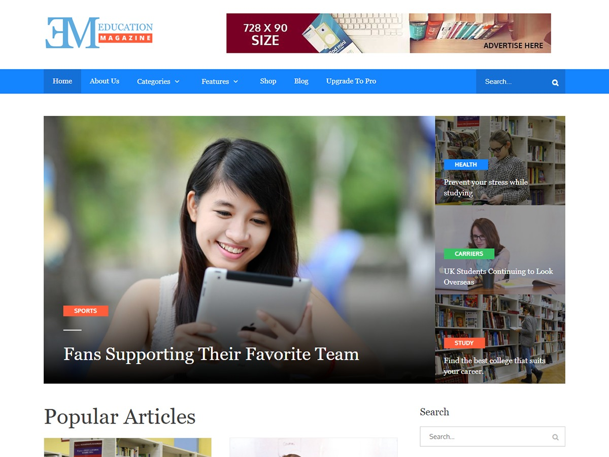 edumag WordPress news theme