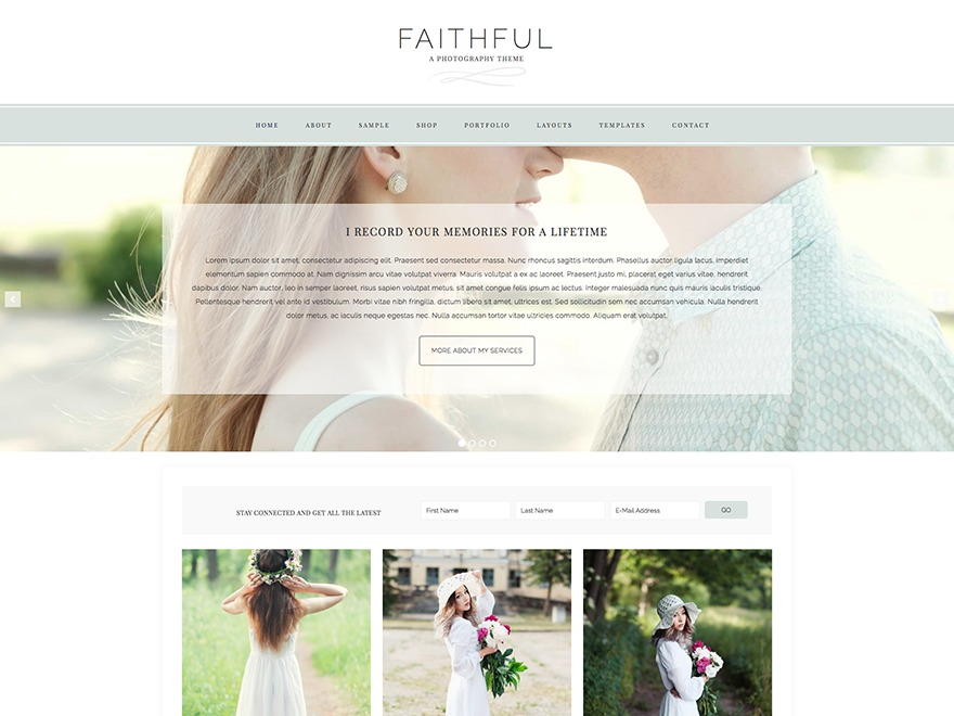 Faithful Theme WordPress shop theme