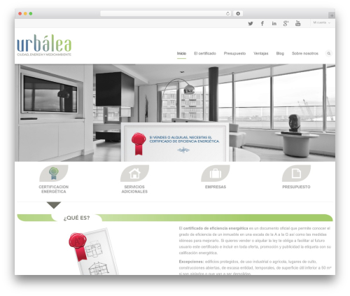 Flexform WordPress theme - urbalea.es