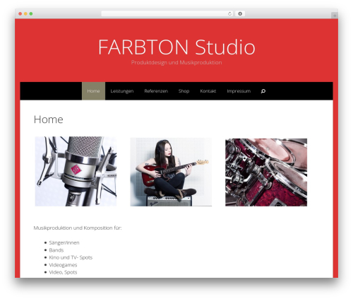 Freelancer WordPress theme design - farbtonstudio.net