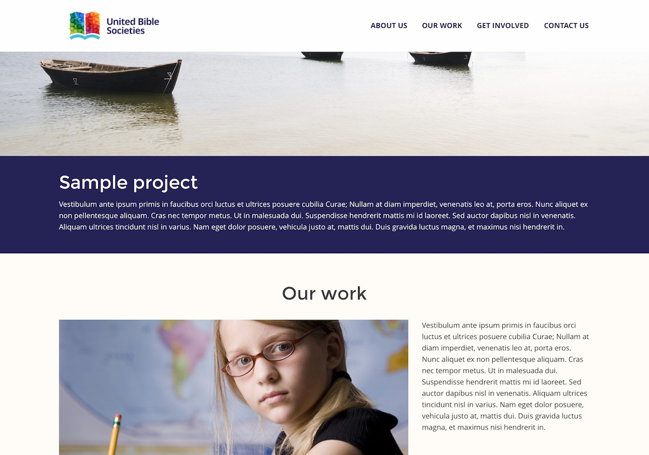 Global Web Swift WordPress theme