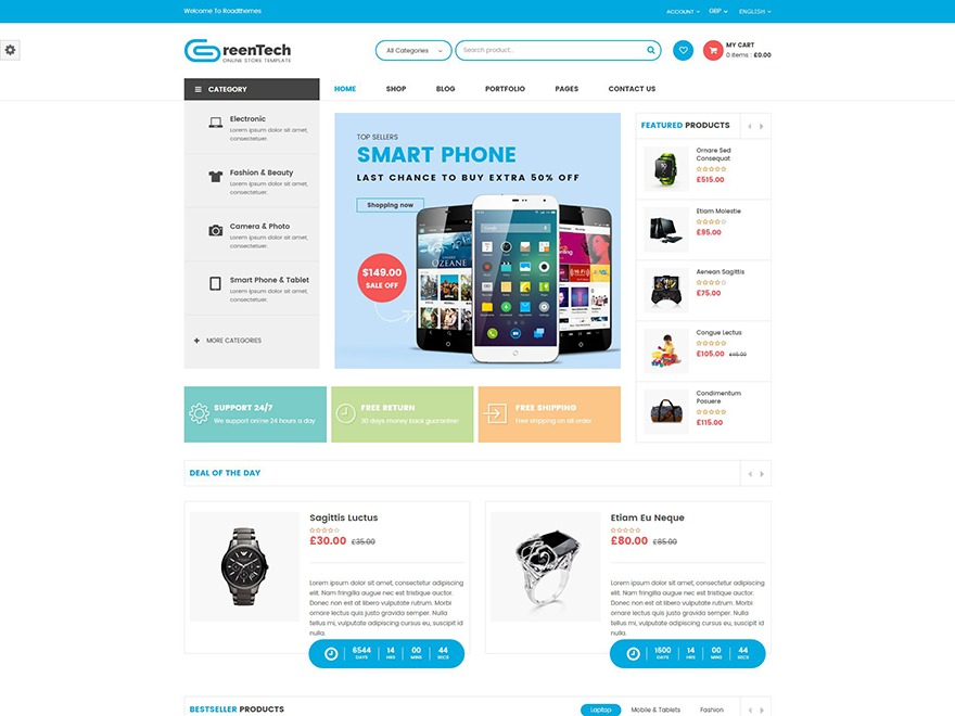 GreenTech WordPress shopping theme