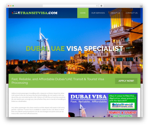 Honma WordPress theme - uaetransitvisa.com