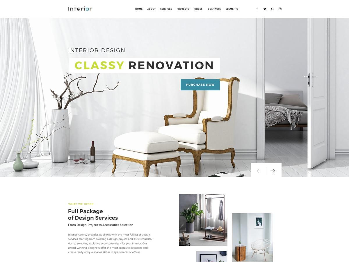 interior theme WordPress