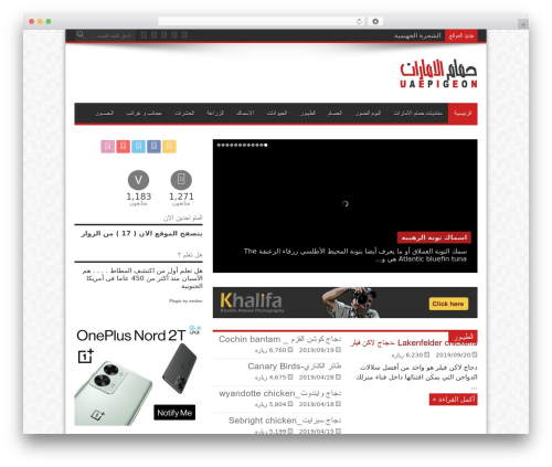 Jarida WordPress website template - uaepigeon.com