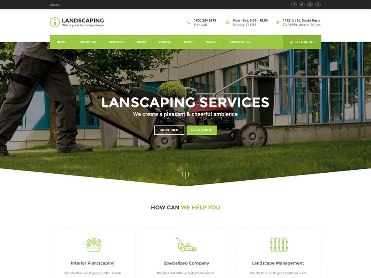 Landscaping WordPress website template