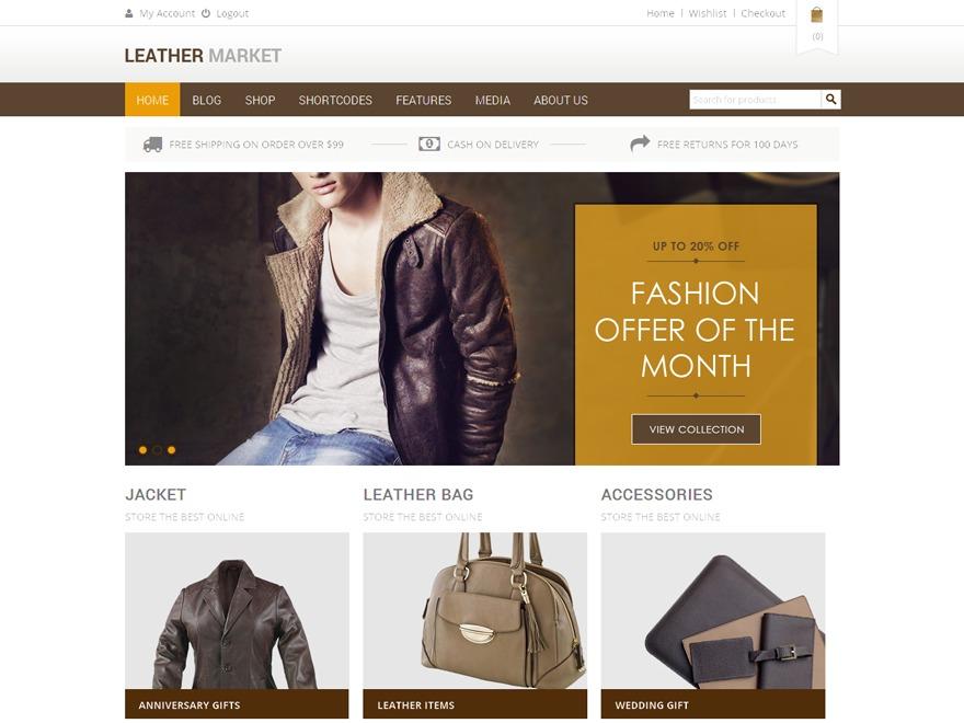 Leather Market WordPress magazine theme