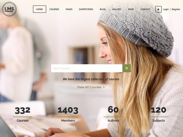 LMS WordPress ecommerce template