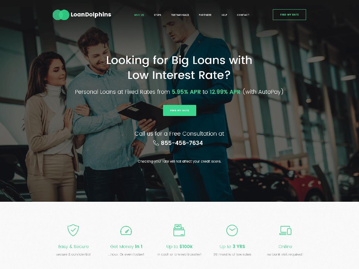 Loandolphins WordPress theme