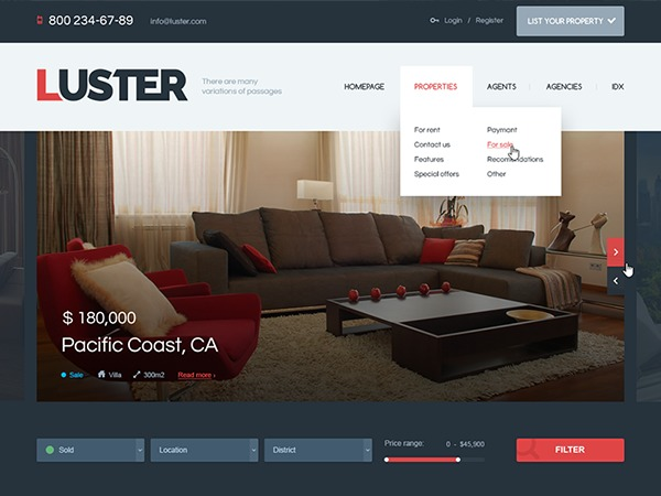 Luster Wordpress Theme WordPress theme design