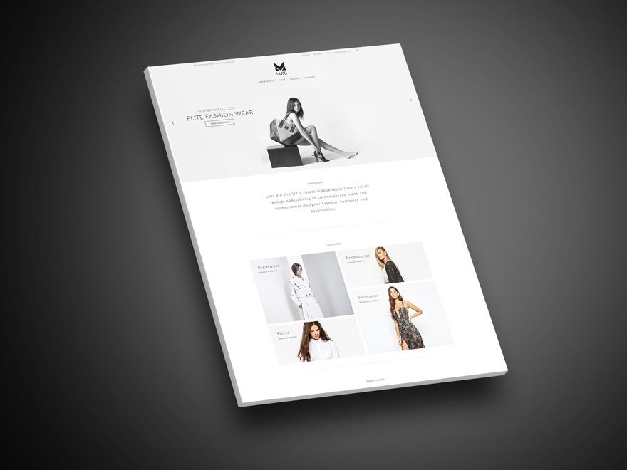 luxi WordPress ecommerce template
