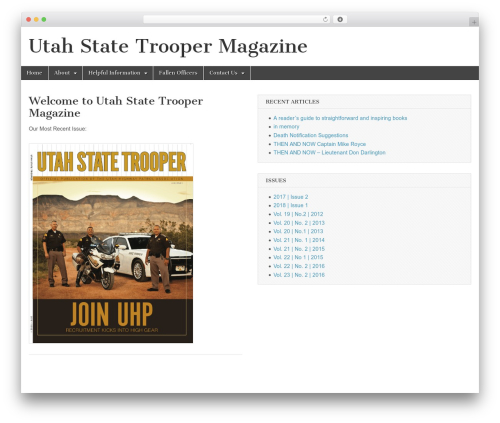 Magazine Basic newspaper WordPress theme - utahstatetrooper.com