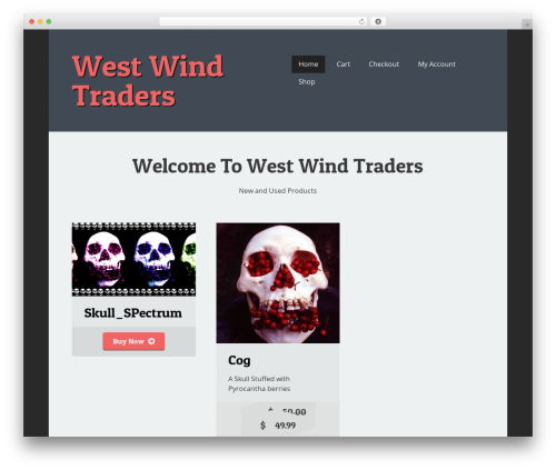 martable WordPress template - westwindtraders.com