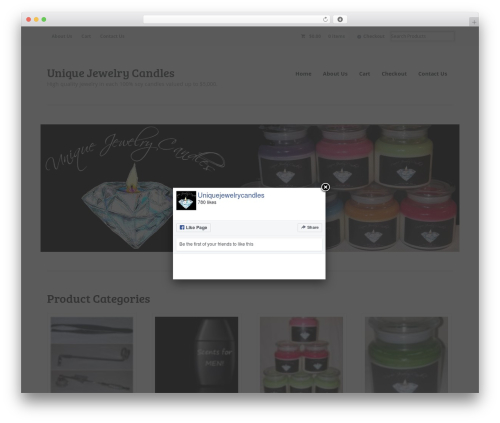 Free WordPress FB Page Promoter Lightbox plugin - uniquejewelrycandles.com