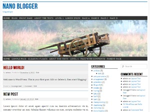 nano blogger WordPress blog template