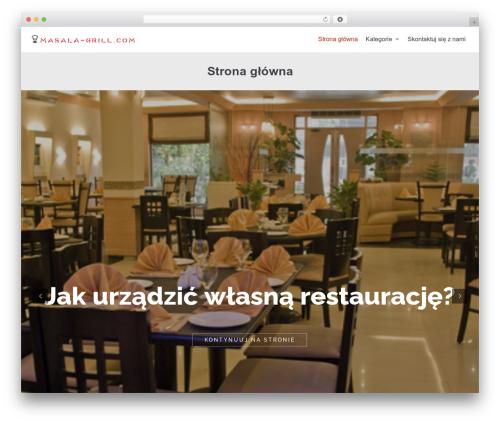neve WordPress theme - masala-grill.com