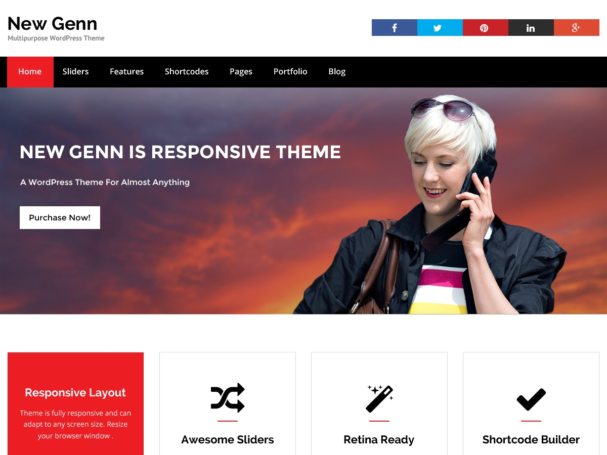 NewGenn template WordPress free