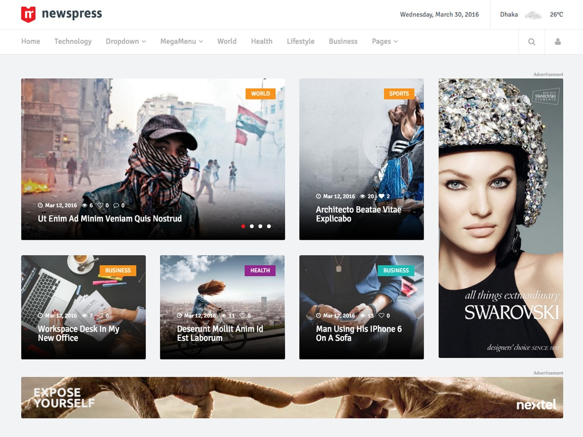 Newspress best WordPress magazine theme