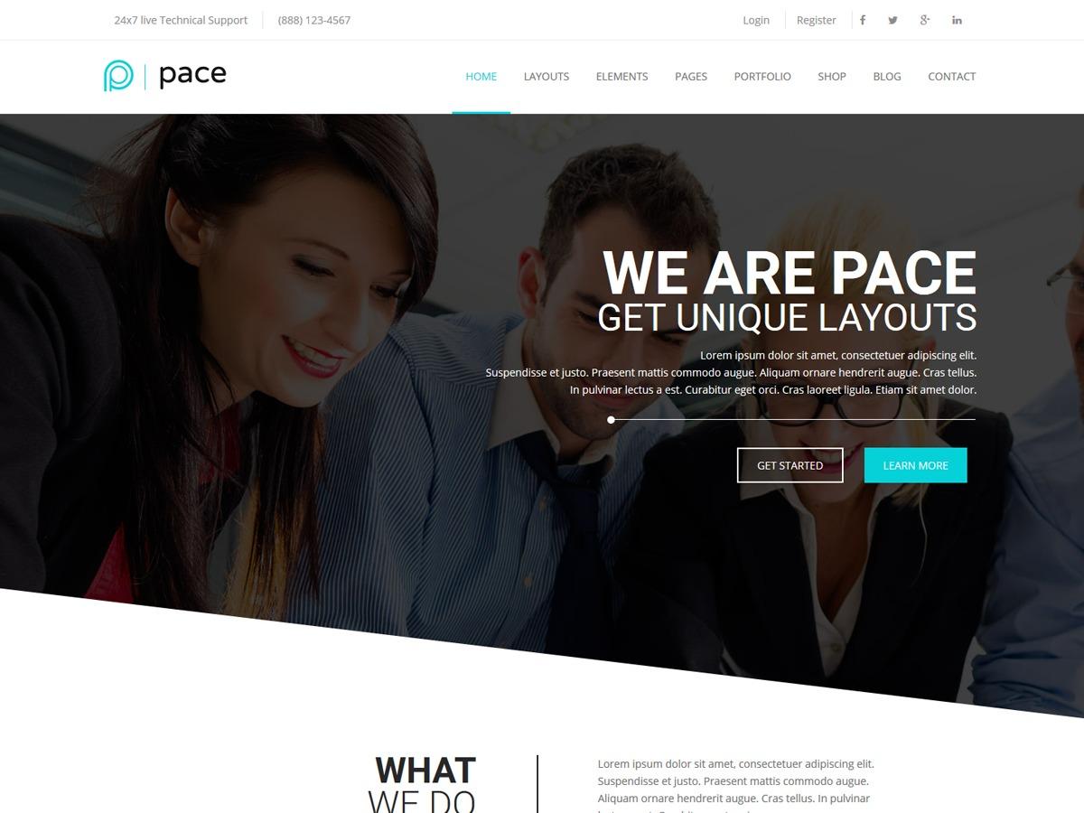 Pace personal WordPress theme