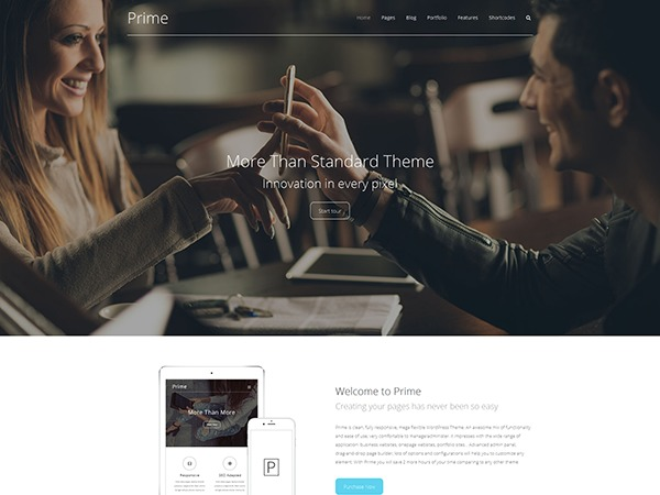 Prime premium WordPress theme