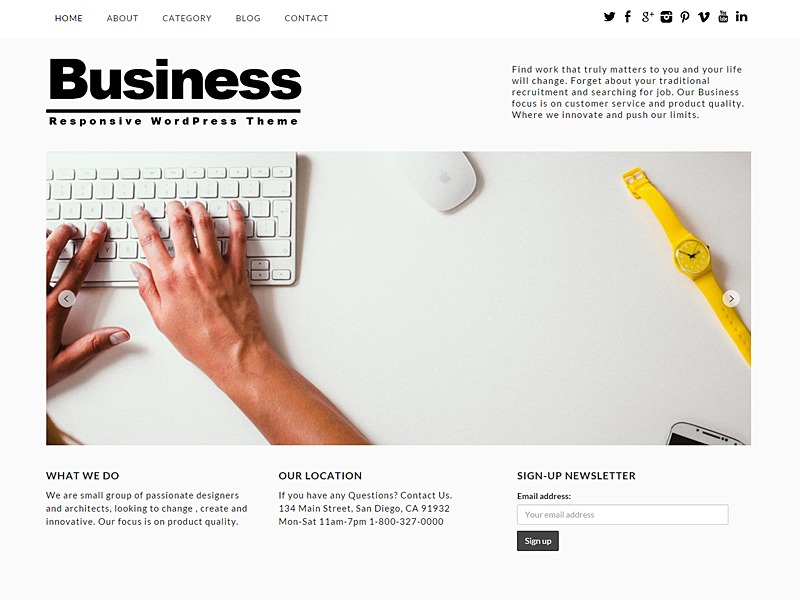 Responsive Business WordPress Theme company WordPress theme