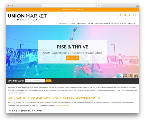 Responsive WordPress theme - unionmarketdc.com