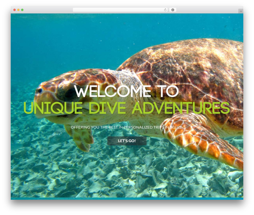 Reversal theme WordPress - uniquediveadventures.com