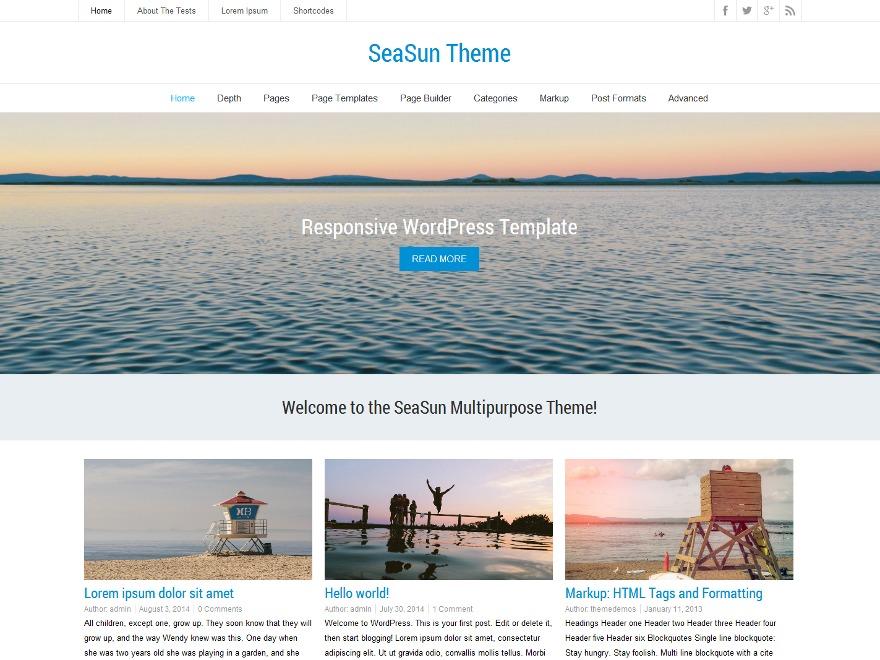 SeaSun Premium WordPress shopping theme