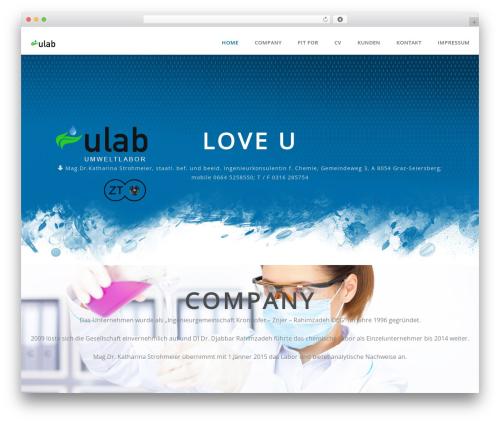 Superb best WordPress template - ulab.at