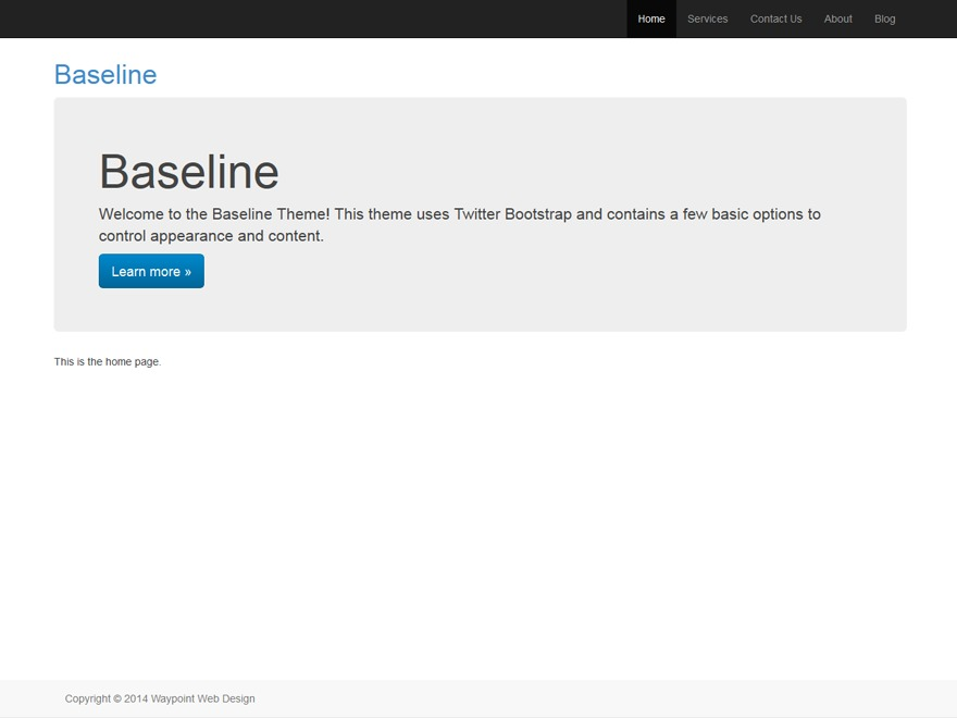Template WordPress Baseline