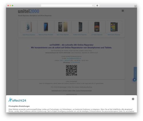 Themify iTheme2 theme WordPress - unitel2000.de