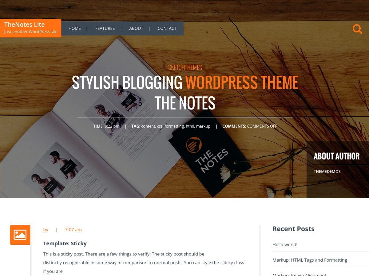 TheNotes Lite WordPress blog theme