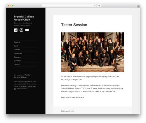 Twenty Fifteen template WordPress - union.ic.ac.uk/arts/gospelchoir