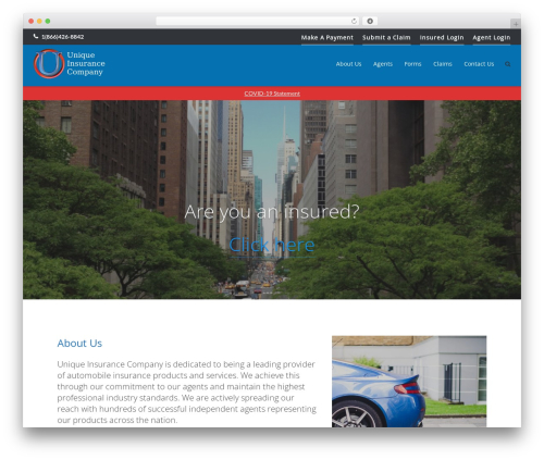 Ultra WordPress website template - uniqueinsuranceco.com