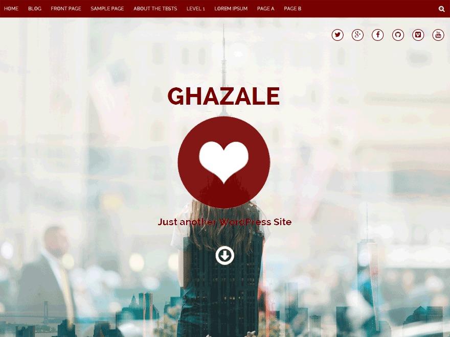 WordPress theme Ghazale