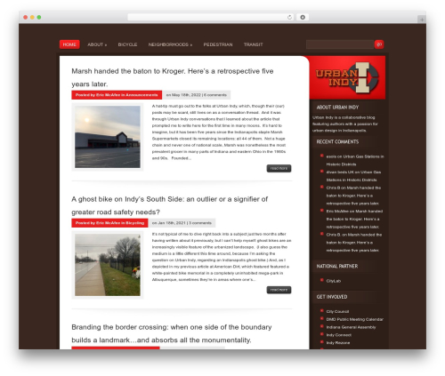 WordPress website template Basic - urbanindy.com