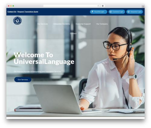 WordPress website template Satellite7 - universallanguageservice.com