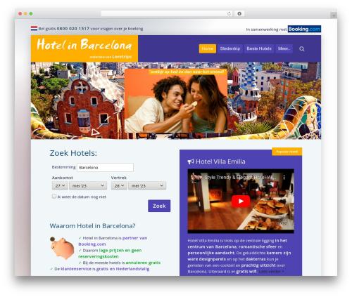 Lava best hotel WordPress theme - hotelinbarcelona.nl
