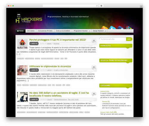 Mystique - Extend WordPress theme - hackerstribe.com