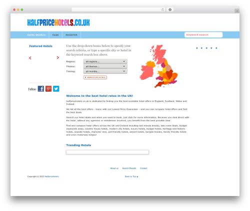 Path best WordPress theme - halfpricehotels.co.uk