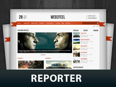 Reporter template WordPress