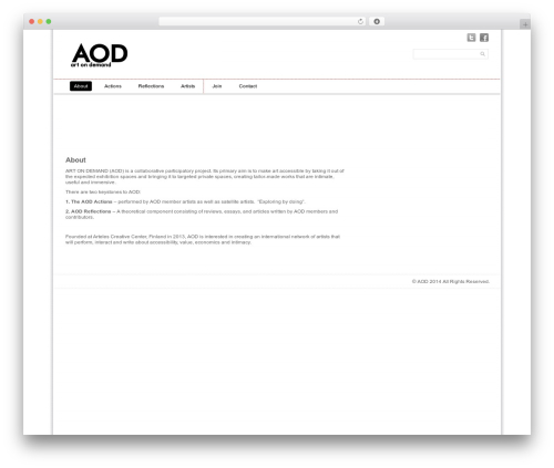 Simple Grid Theme Responsive best WordPress template - a-o-d.org