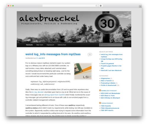 Free WordPress Twenty Eleven Theme Extensions plugin - alexbrueckel.de