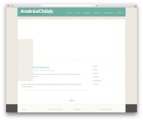 WordPress theme Acoustic - andreachilds.com