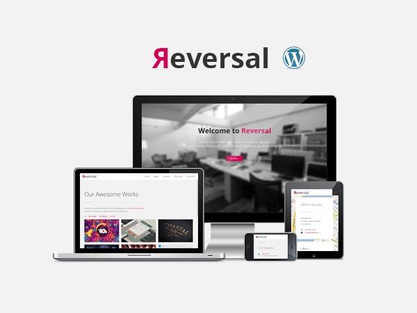 WordPress website template Reversal (shared on wplocker.com)