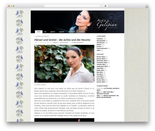WordPress sifr plugin - alicegulipian.com