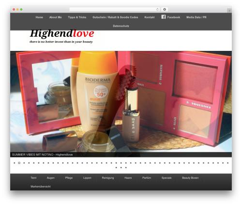 Catch Evolution best free WordPress theme - highendlove.de