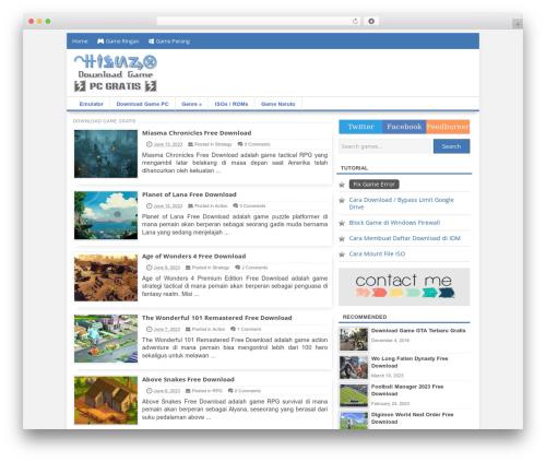 Freshlife WordPress gaming theme - hienzo.com