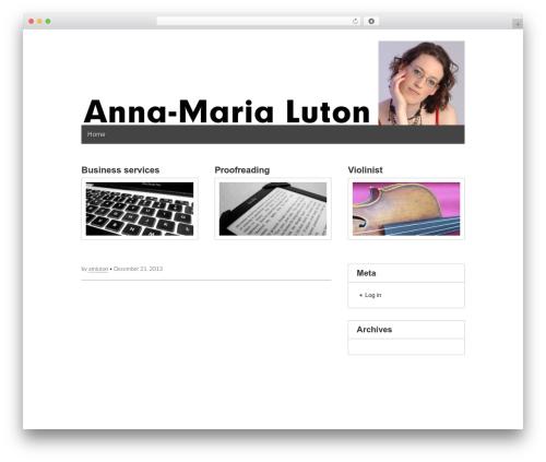 Gridiculous free WordPress theme - annamarialuton.com