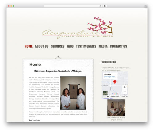 PersonalPress WordPress theme - acupuncturemi.com